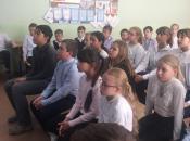 Встреча с учениками и педагогами школы 2083 Знамя Октября